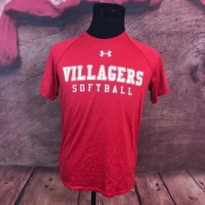 Under Armour Loose Red Athletic Shirt S
